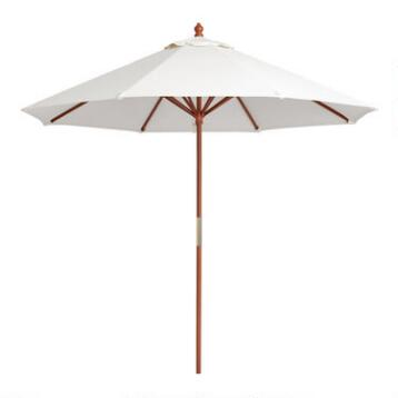 9' Brown Umbrella Frame